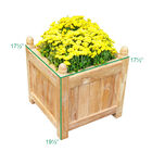 Teak Square Planter | 19-in