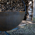 42-in Cauldron Fire Pit Bowl With Grate and Chain