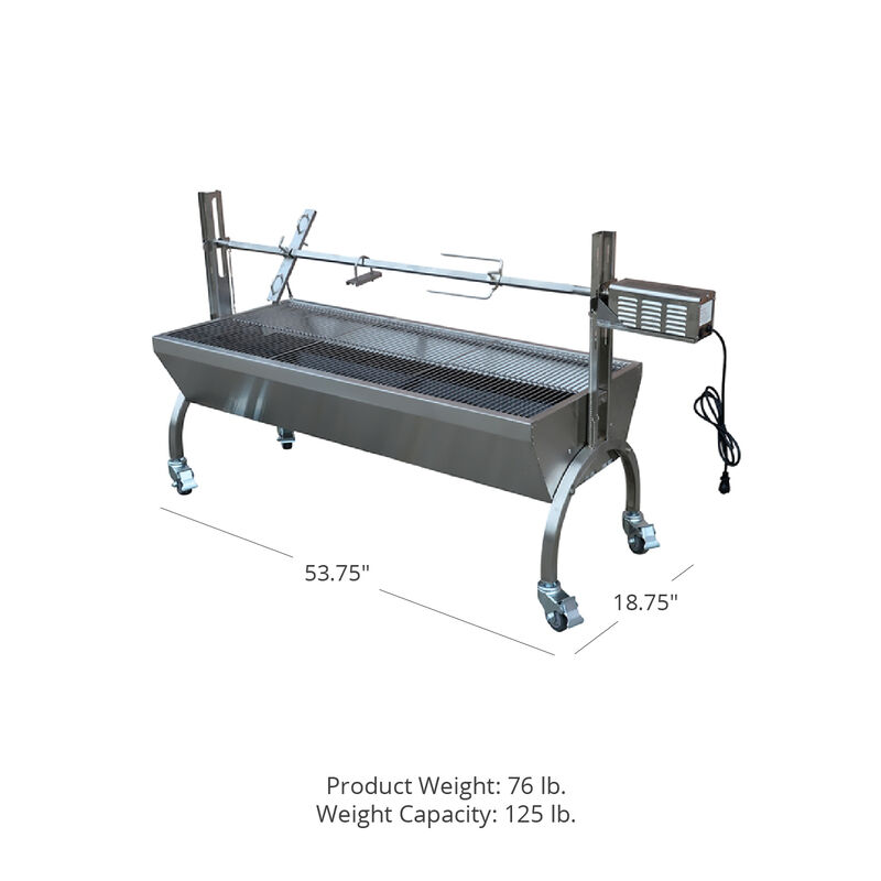 25W Rotisserie Grill Roaster Stainless Steel