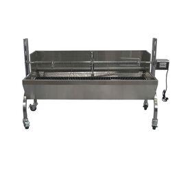 13W Stainless Steel Rotisserie Grill w/Windscreen