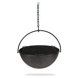 """42"""" Cauldron Fire Pit Bowl With Grate and Chain"""