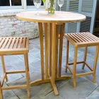 Teak Round Bar Table | 35-in