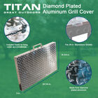 Diamond Plated Aluminum Grill Cover | Fits 28 in. Blackstone Griddle | V2