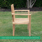 Grade A Teak 4 Pack Classic Stacking Chairs