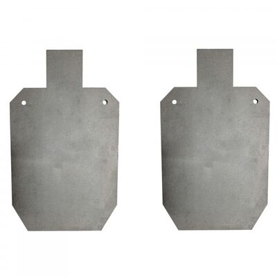 "Pair of AR500 Silhouette Steel Plate Shooting Targets 20""x12"" 3/8"" Thick"