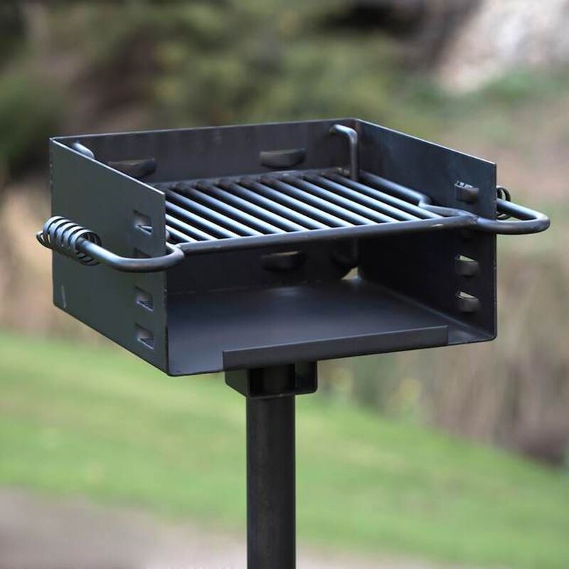 Heavy Duty Park Style Grill w/ Base Anchor