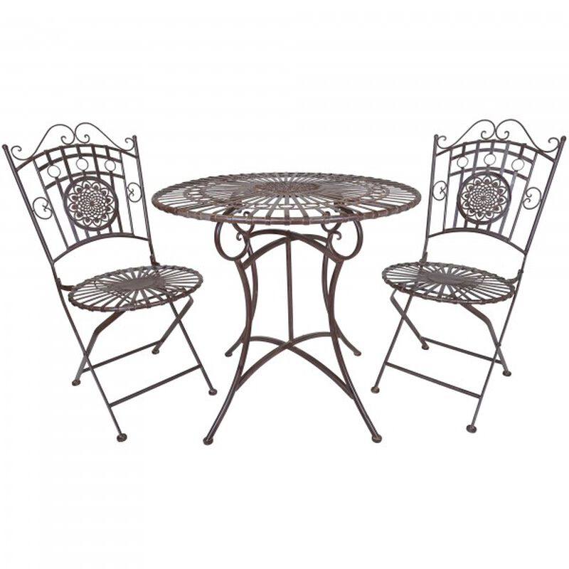 Rustic Metal Table & Chair Set