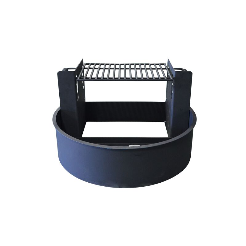 """31"""" Fire Ring with Adjustable Grate"""
