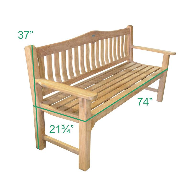 Teak Raffles Bench | 74-in