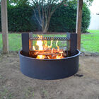 "31"" Fire Ring with Adjustable Grate"