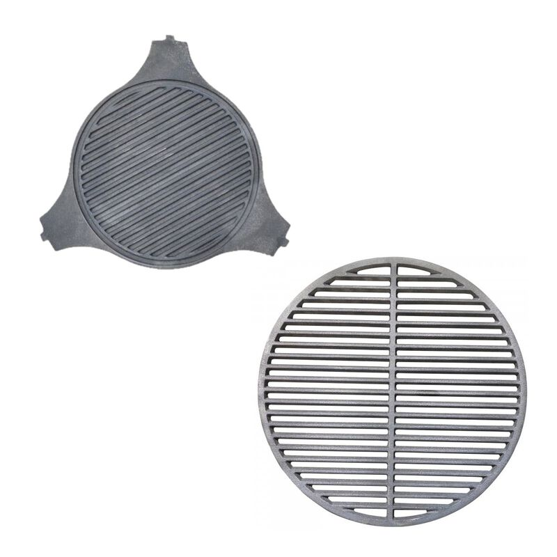 Cast Iron Grill Grate and Cast Iron Plate Setter Combo