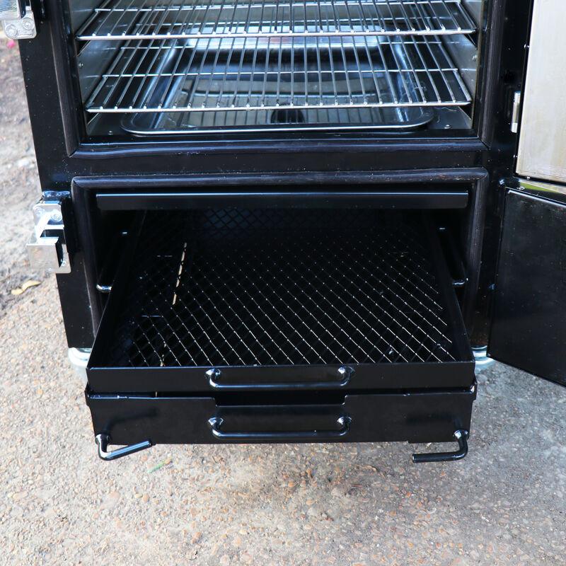 Reverse Flow Vertical Meat Smoker Box