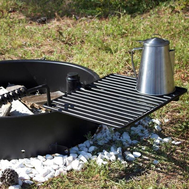 """32"""" Steel Fire Ring with Cooking Grate"""