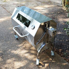 35W Stainless Steel Rotisserie Grill Roaster w/ Glass Hood