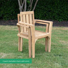 Teak Classic 2 Pack Stacking Chairs