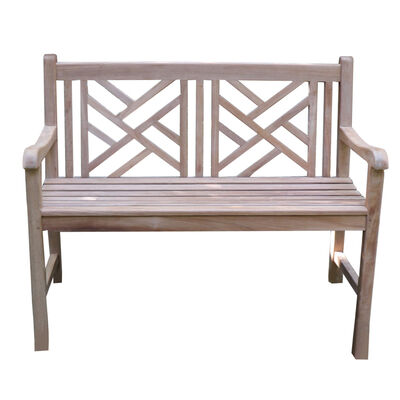 Teak Cross Bench | 47-in