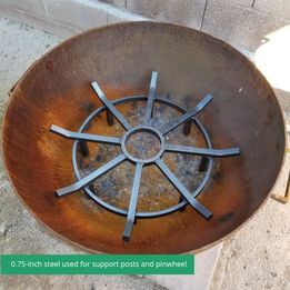 Scratch and Dent - 24-in Wagon Wheel Fire Grate - FINAL SALE