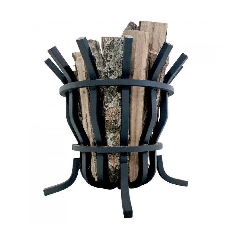 Solid Steel Self-Feeding Fire Pit Basket