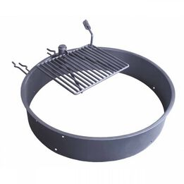 """36"""" Steel Camp Fire Ring & Outdoor Cooking Grate"""
