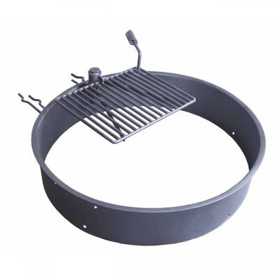 "36"" Steel Fire Ring & Cooking Grate"