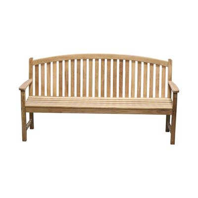 Teak Bow Back Bench | 6-ft