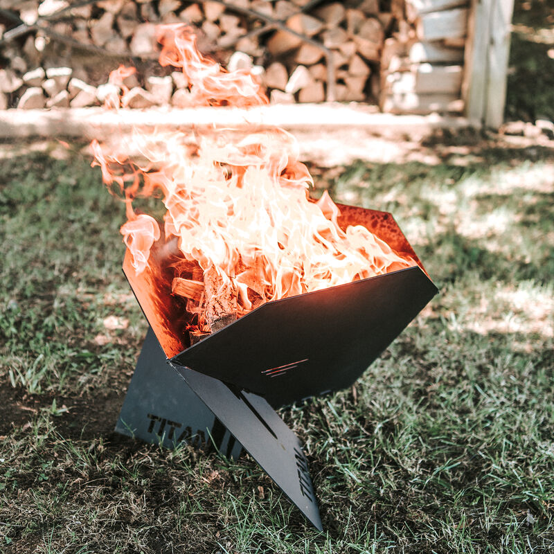 Portable Pop-Up Fire Pit w/ Carrying Bag