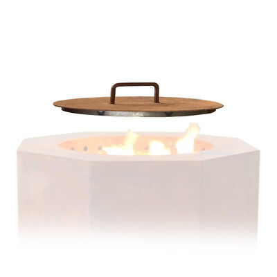 Lid for Corten Steel Low Smoke Fire Pit