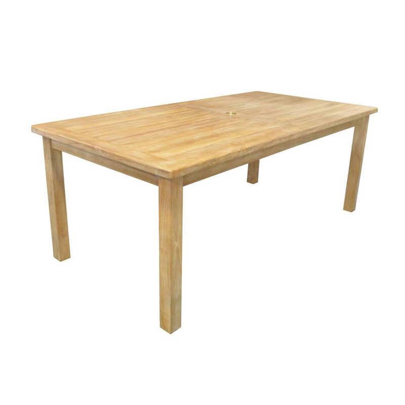 "Teak Laurel Table   79"""