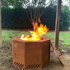 Corten Steel Low Smoke Fire Pit with Lid