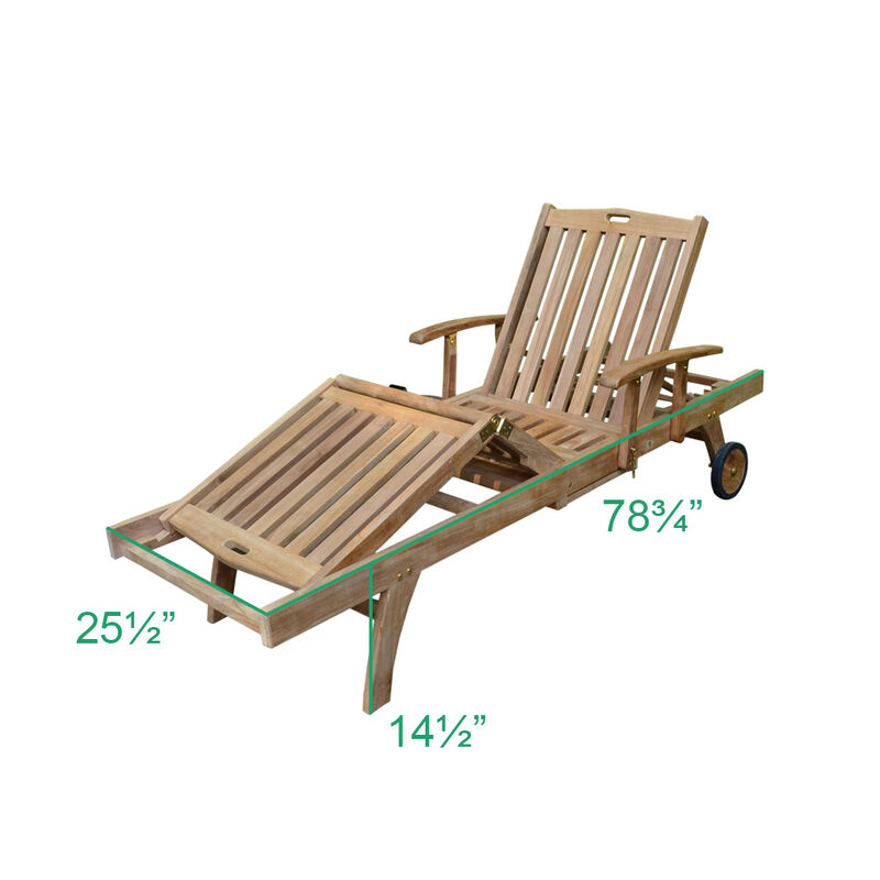 Grade A Teak 2 Pack Reclining Loungers with Armrests