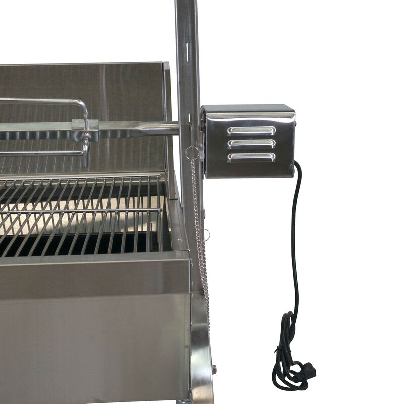 13W Stainless Steel Rotisserie Grill w/Windscreen