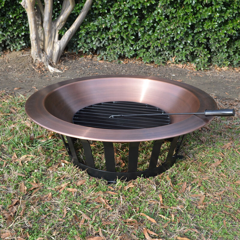 Titan 40 Copper Outdoor Fire Pit Patio Lawn Garden Fire Pits Outdoor Fireplaces