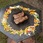 Hexagon Flat Top Wood Fire Grill