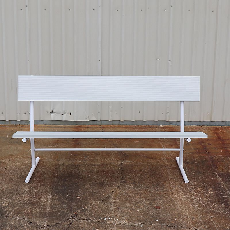 Aluminum Bench with Back | 6'
