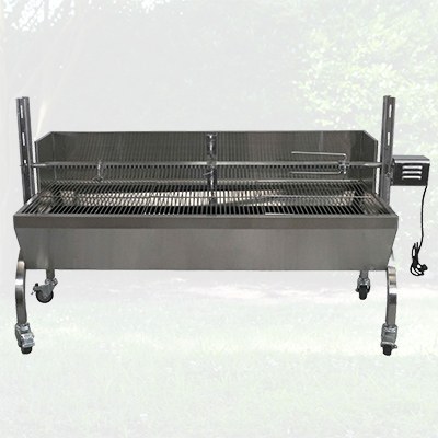 13W Stainless Steel Rotisserie w/ Windscreen