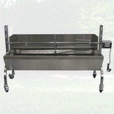 13W Stainless Steel Rotisserie w/ Windscreen