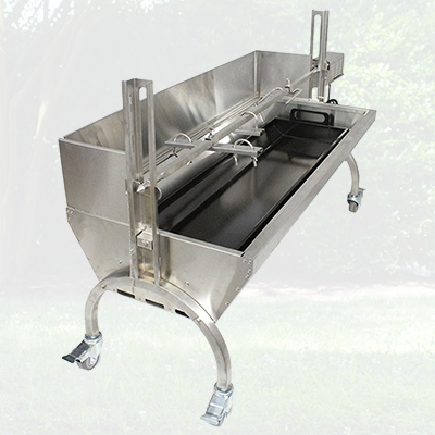 25W Stainless Steel Rotisserie w/ Windscreen